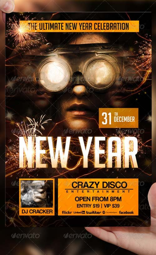 GraphicRiver New Year Flyer Template 3093241