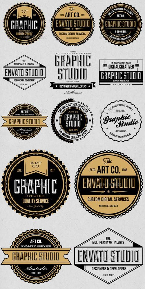 GraphicRiver Studio Badges Labels