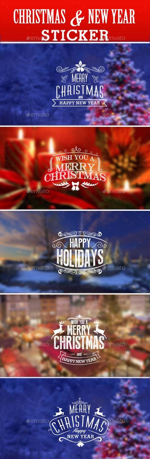 GraphicRiver Christmas & New Year Sticker