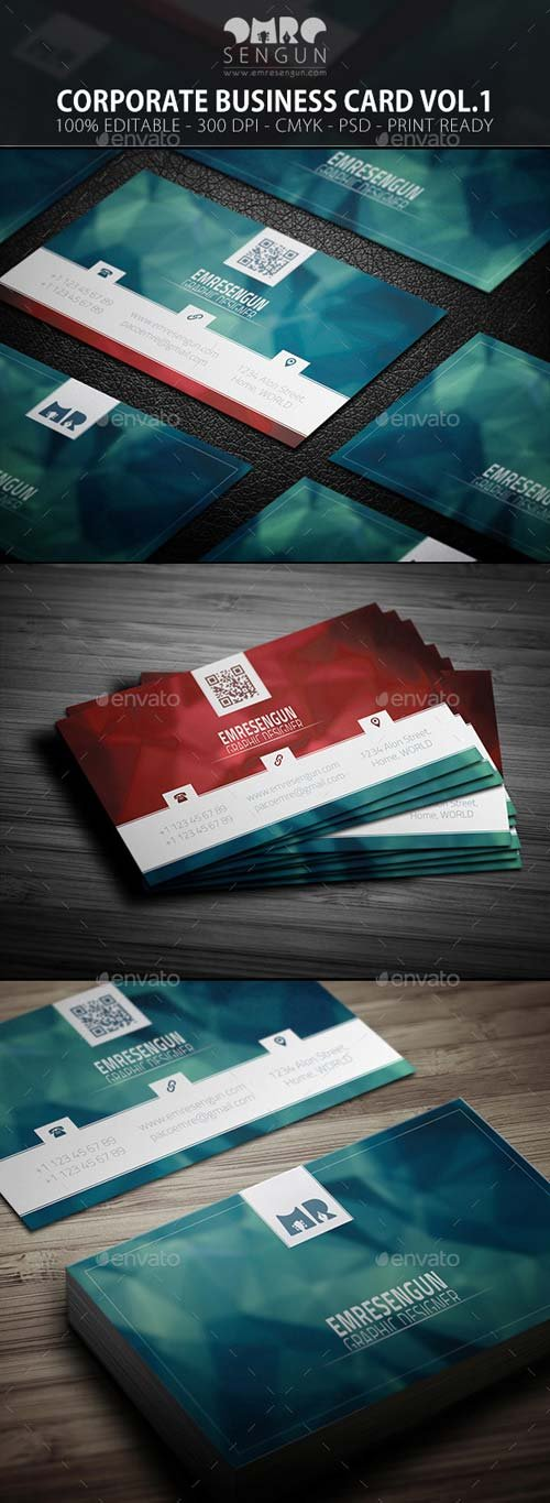 GraphicRiver Corporate Business Card Vol.01