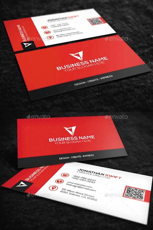 GraphicRiver Red Corporate Business Card No.09