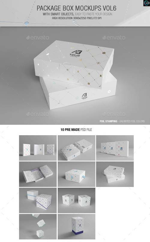 GraphicRiver Package Box Mockups Vol6