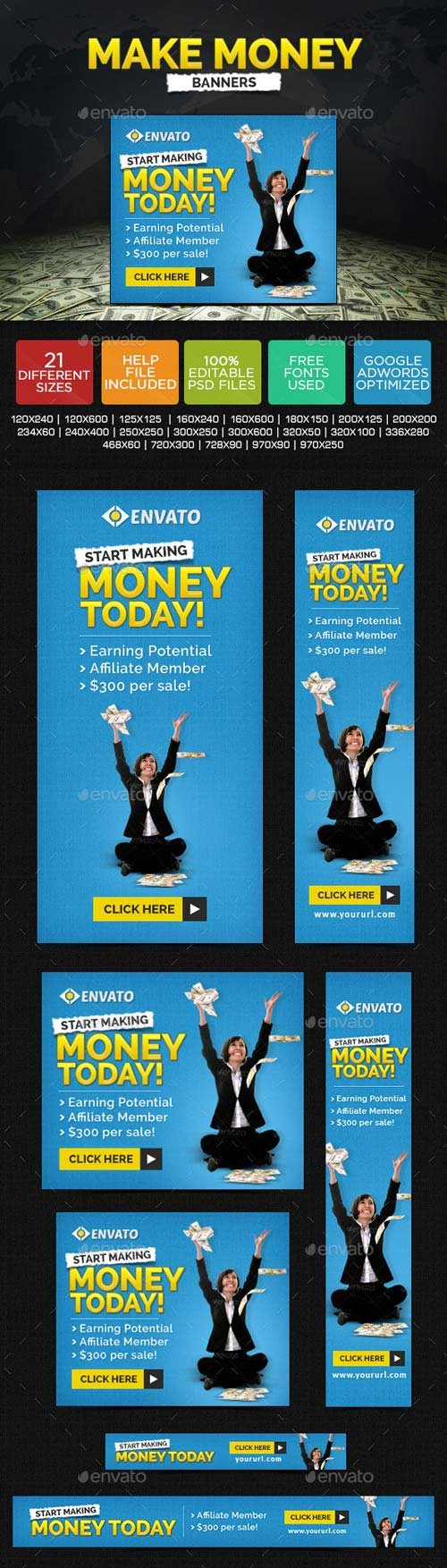 GraphicRiver Make Money Banners