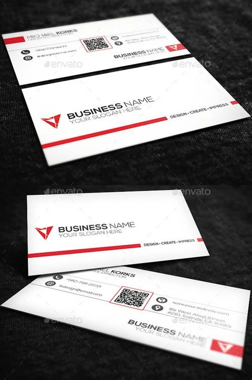 GraphicRiver White Creative Business Card No.07