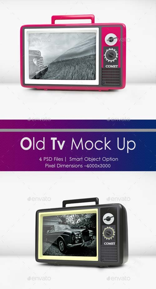 GraphicRiver Old Tv Mock Up
