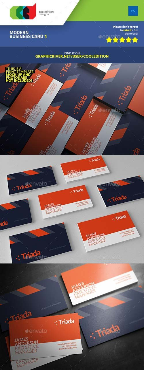 GraphicRiver Modern Business Card 1