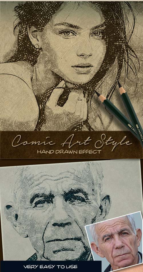 GraphicRiver Comic Art Style Hand Drawn Effect