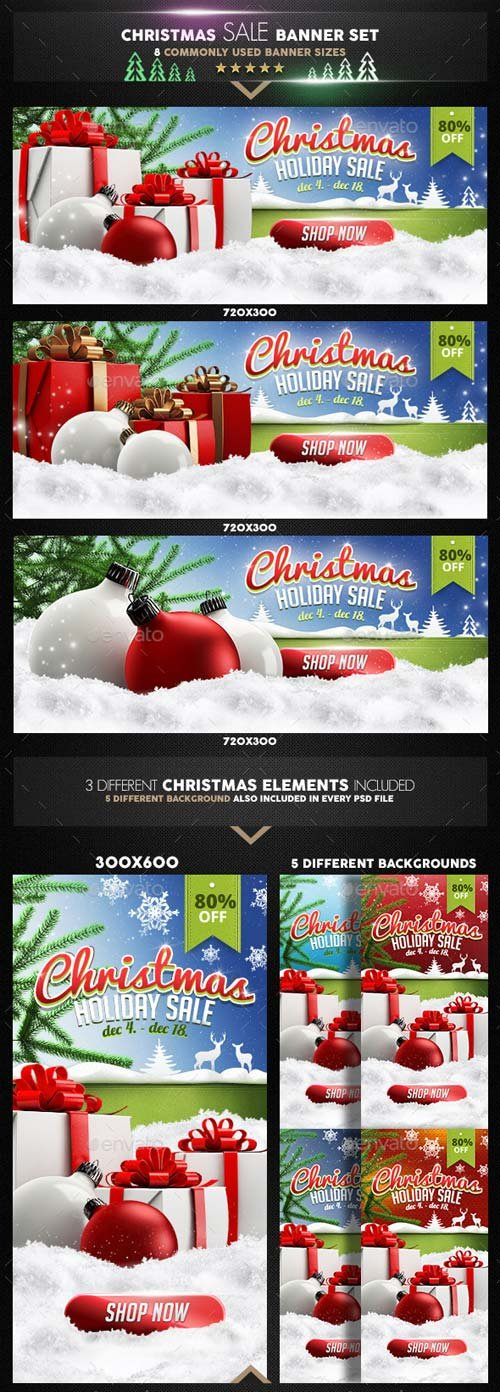GraphicRiver Christmas Sale Banner Set v2