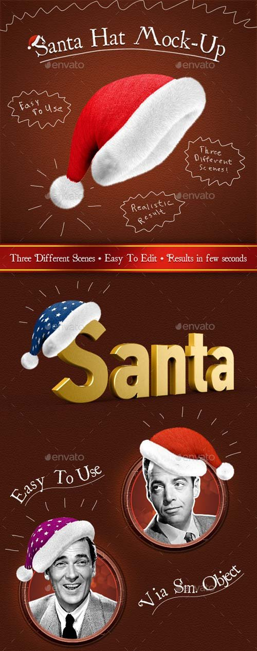 GraphicRiver Santa Hat Mock-Up