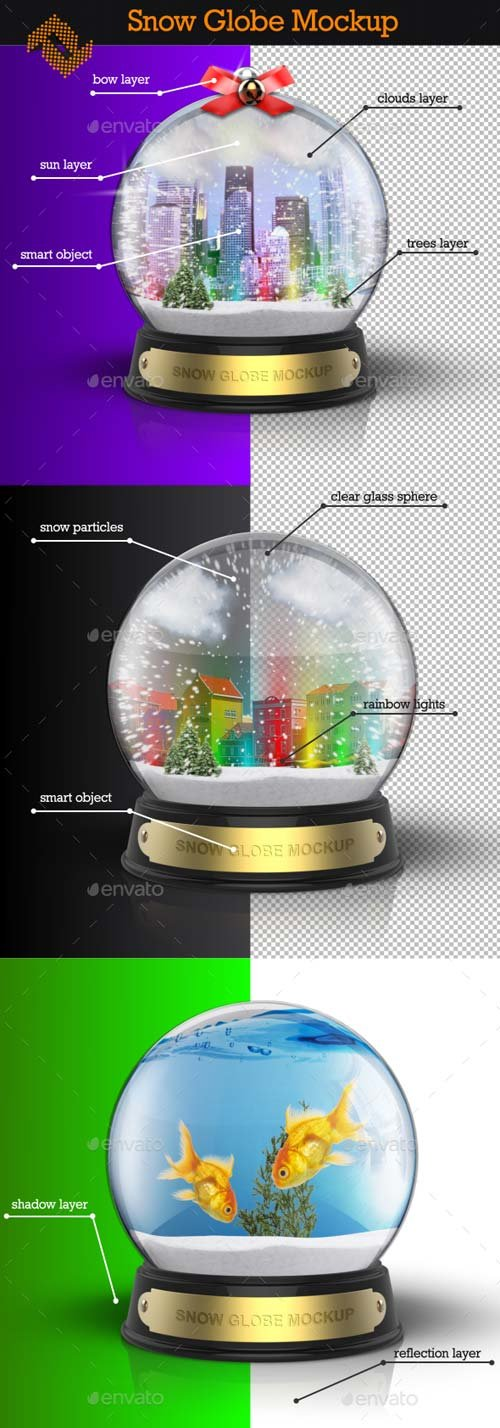 GraphicRiver Snow Globe Mockup