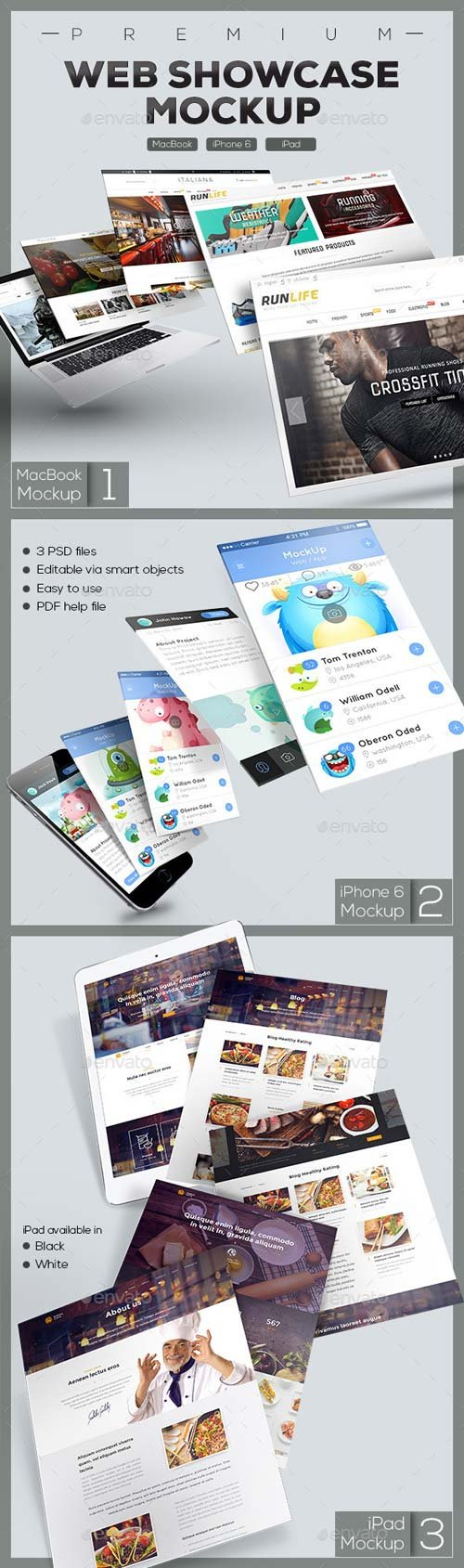 GraphicRiver Web Showcase Mockup 9608545