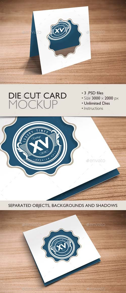 GraphicRiver Die Cut Card Mockup