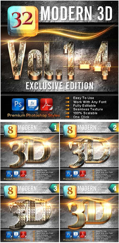 GraphicRiver 32 Modern 3D_Bundle (Vol.1-4)