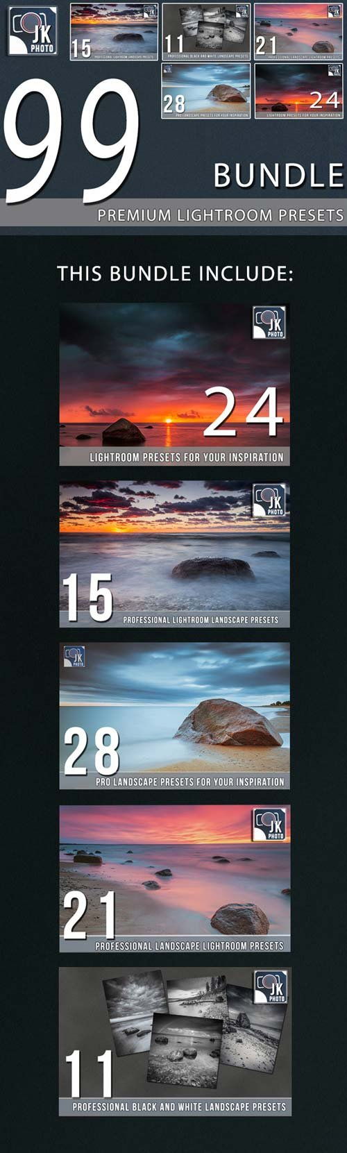 GraphicRiver 99 Premium LightRoom Presets Bundle