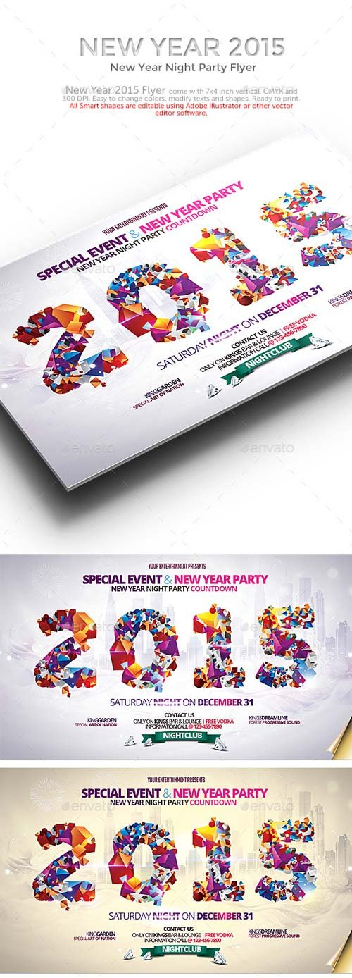 GraphicRiver New Year 2015 Party