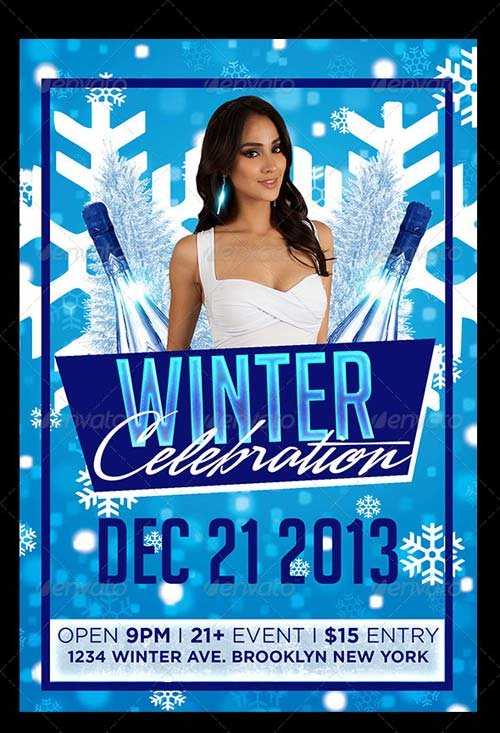 GraphicRiver Winter Celebration Flyer