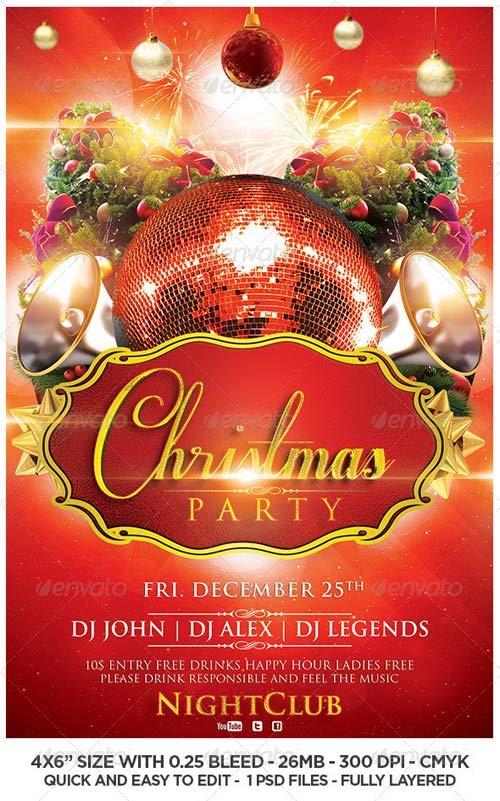 Flyer Templates - GraphicRiver Xmas Box Flyer Template | GraphicFlux