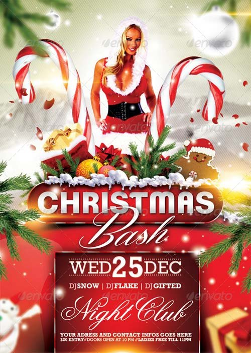 GraphicRiver Christmas Bash Flyer 6270324