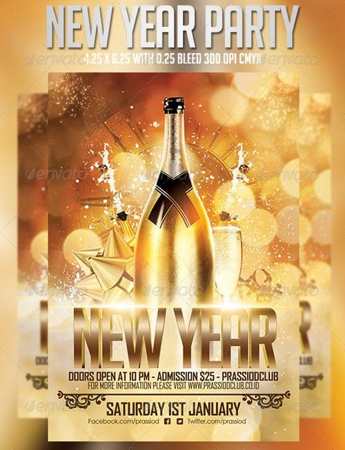 free new years flyer template