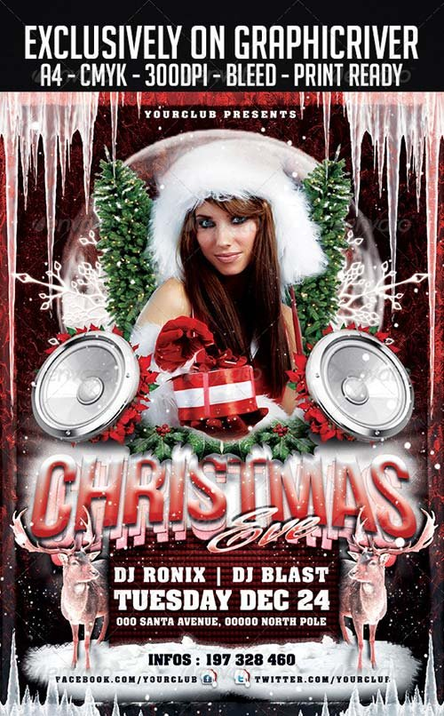 GraphicRiver Christmas Eve Flyer Template 6047706