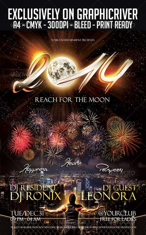 Flyer Templates  Graphicriver New Year Flyer Template