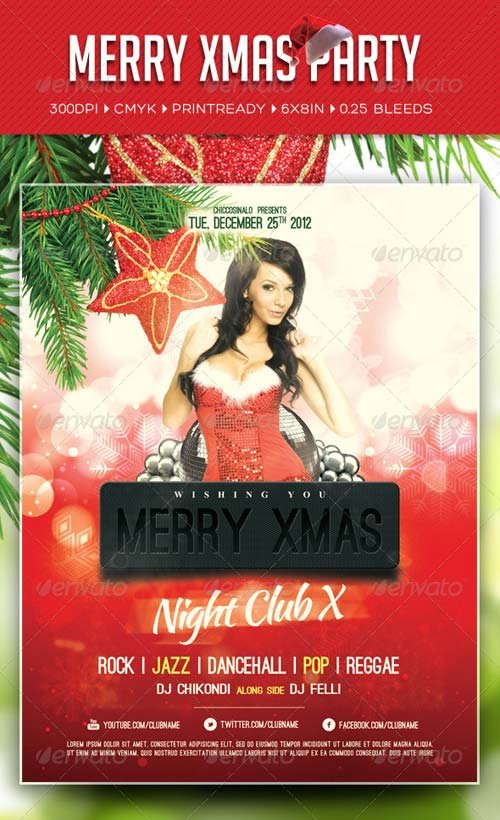 GraphicRiver Merry Xmas Party Flyer Template