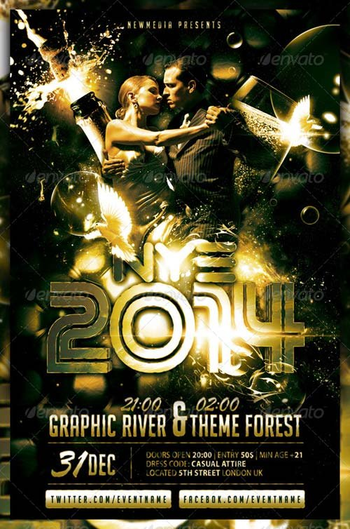 GraphicRiver Champagne / New Year Eve Party Flyer / Poster