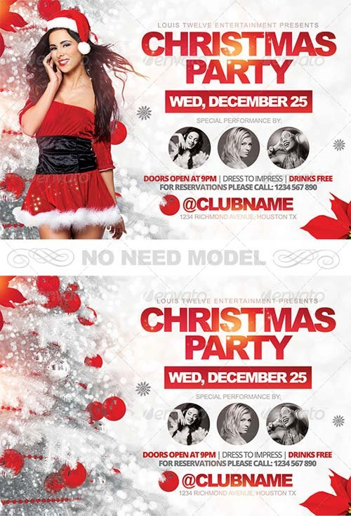 GraphicRiver Christmas Party Horizontal Flyer Template