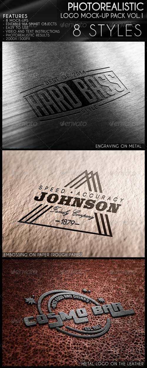 GraphicRiver Photorealistic Logo Mock-Up Pack Vol.1