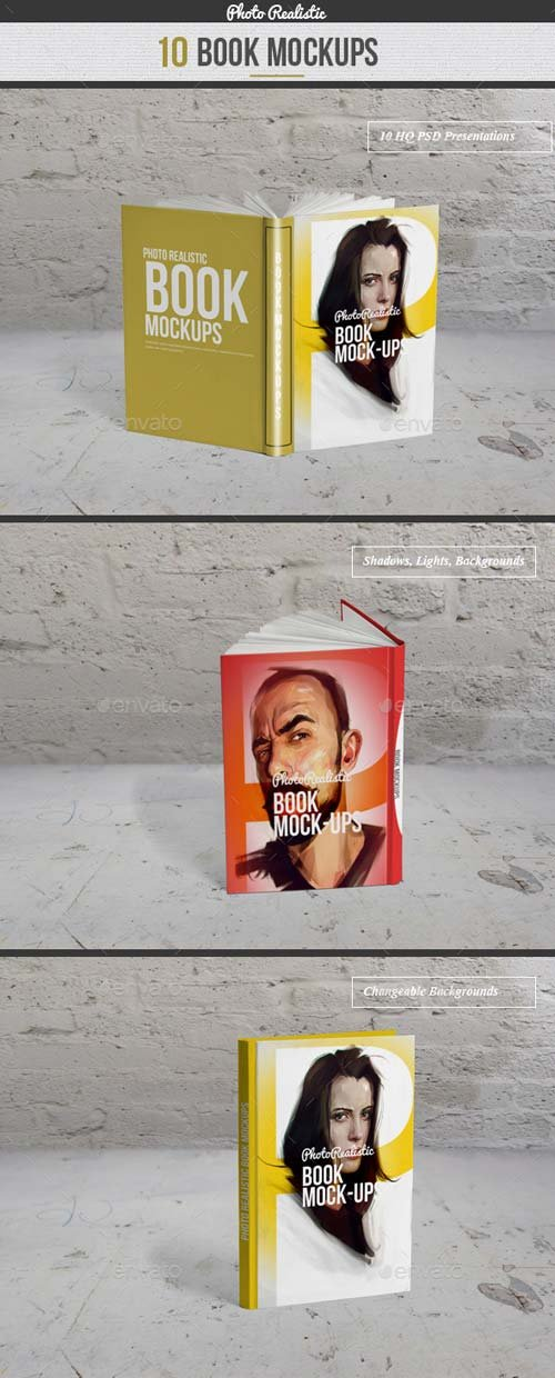 GraphicRiver Book / 10 Mockup / Photo Realistic