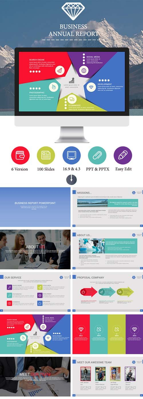 GraphicRiver Business Report PowerPoint Template