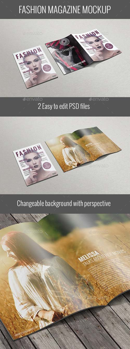 GraphicRiver Fashion Magazine Mockup