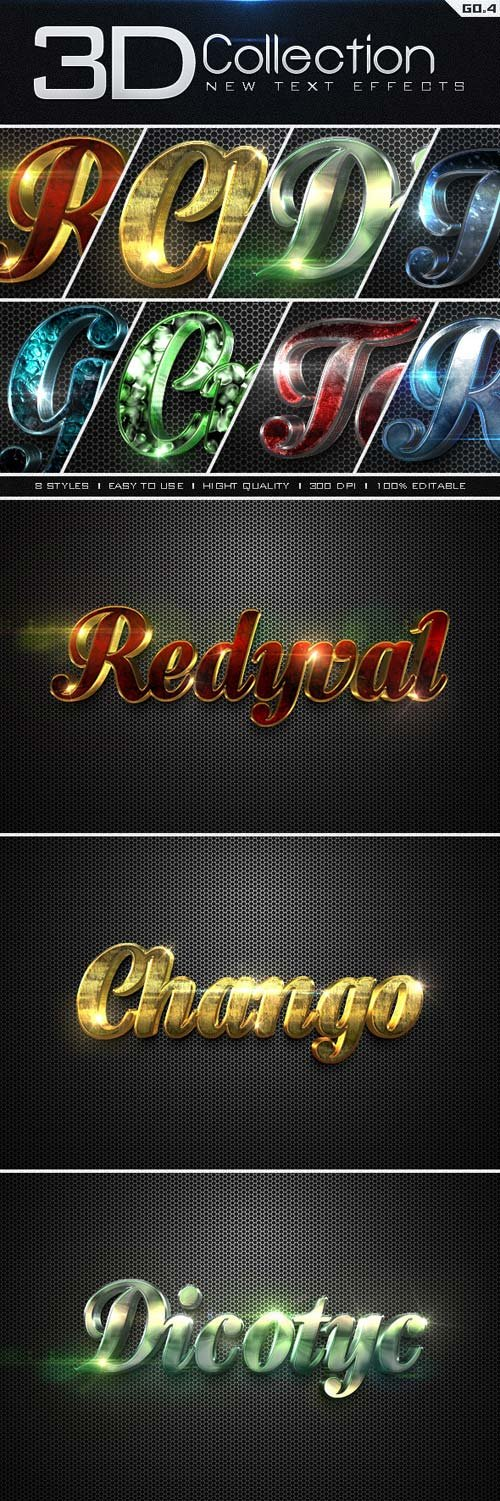 GraphicRiver New 3D Collection Text Effects GO.4
