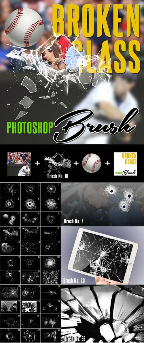GraphicRiver Broken Glass Photoshop Brush