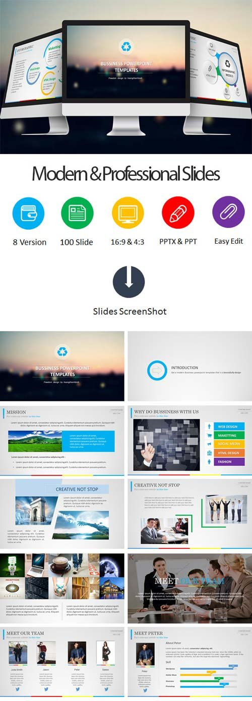 GraphicRiver Bussiness Powerpoint Templates