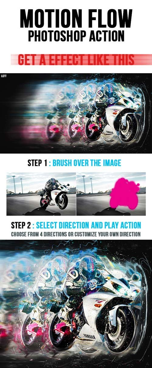 GraphicRiver Motionflow Photoshop Action