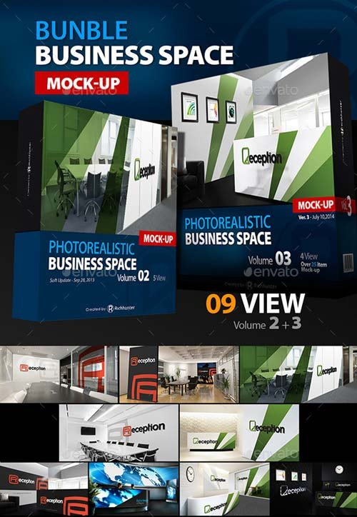 GraphicRiver Mock-up Business Space Bundle Vol.2-3