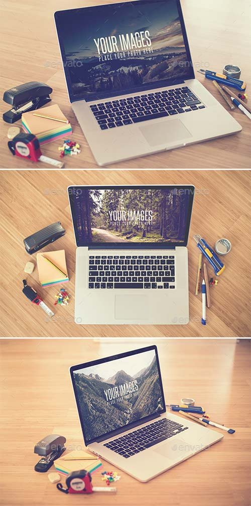 GraphicRiver Desk II - Realistic Mock Up