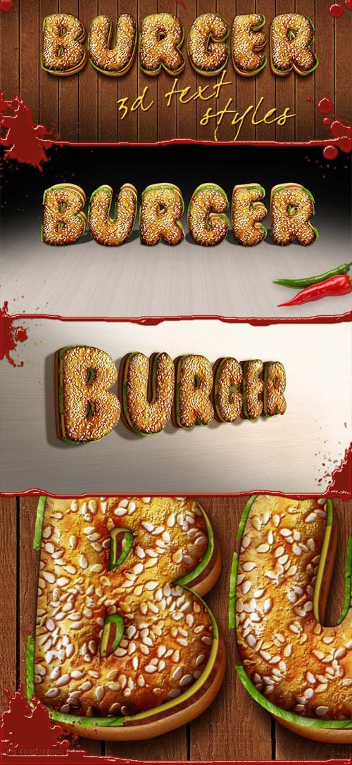 GraphicRiver 3D Burger Styles