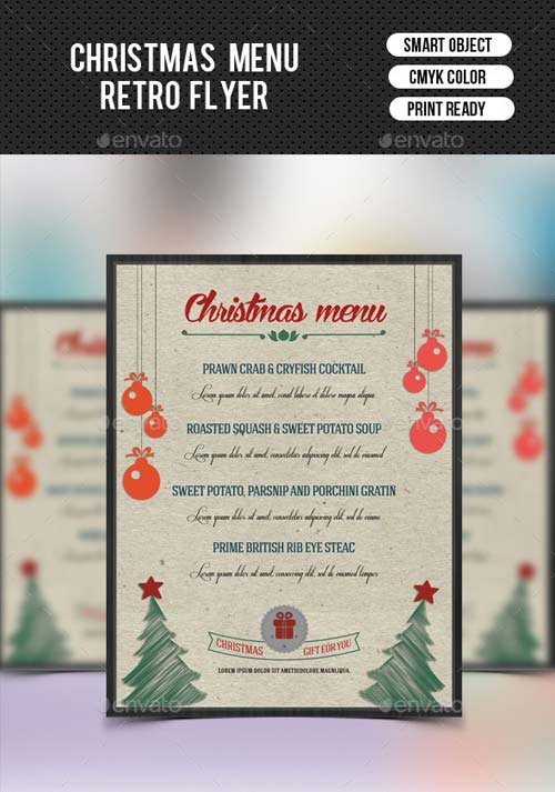 GraphicRiver Christmas Food Menu-V01