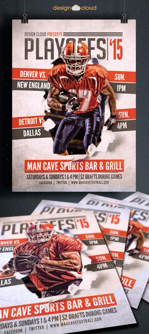 GraphicRiver Playoffs 15 Flyer Template