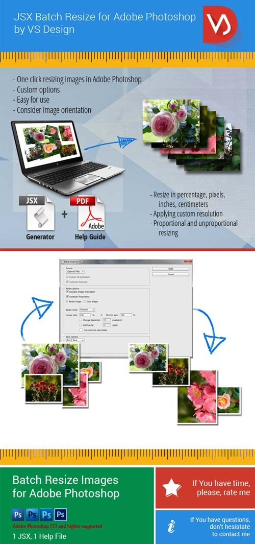 GraphicRiver JSX Batch Resize for Adobe Photoshop
