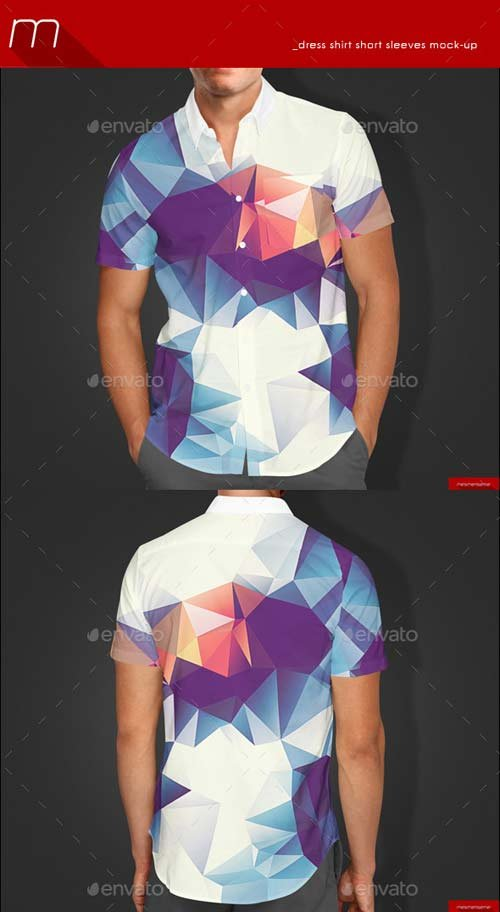 GraphicRiver Short Sleeves Dress Shirt Mock-up