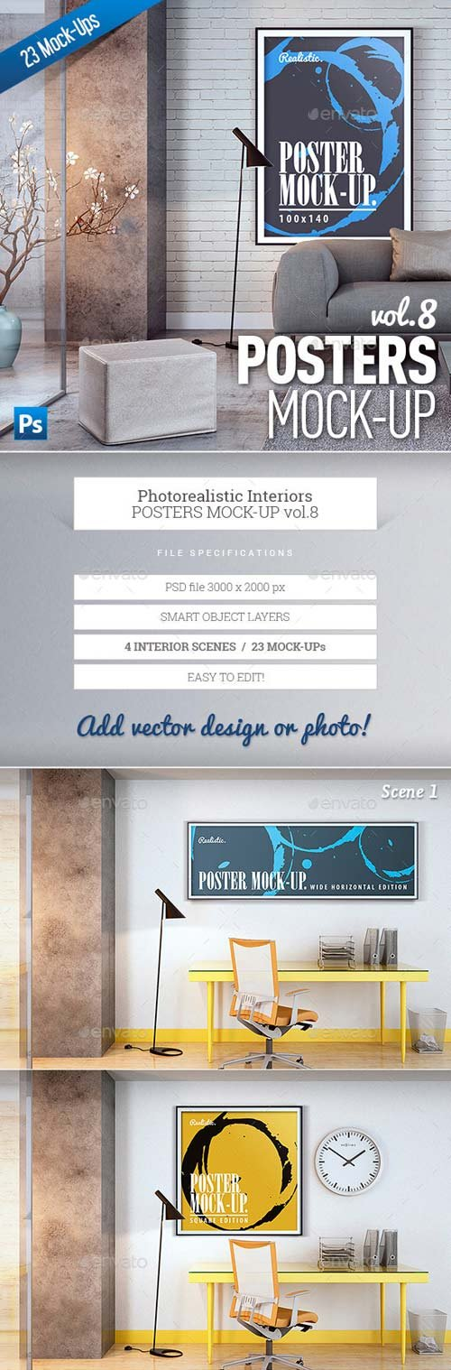 GraphicRiver Posters Mock-Up vol.8