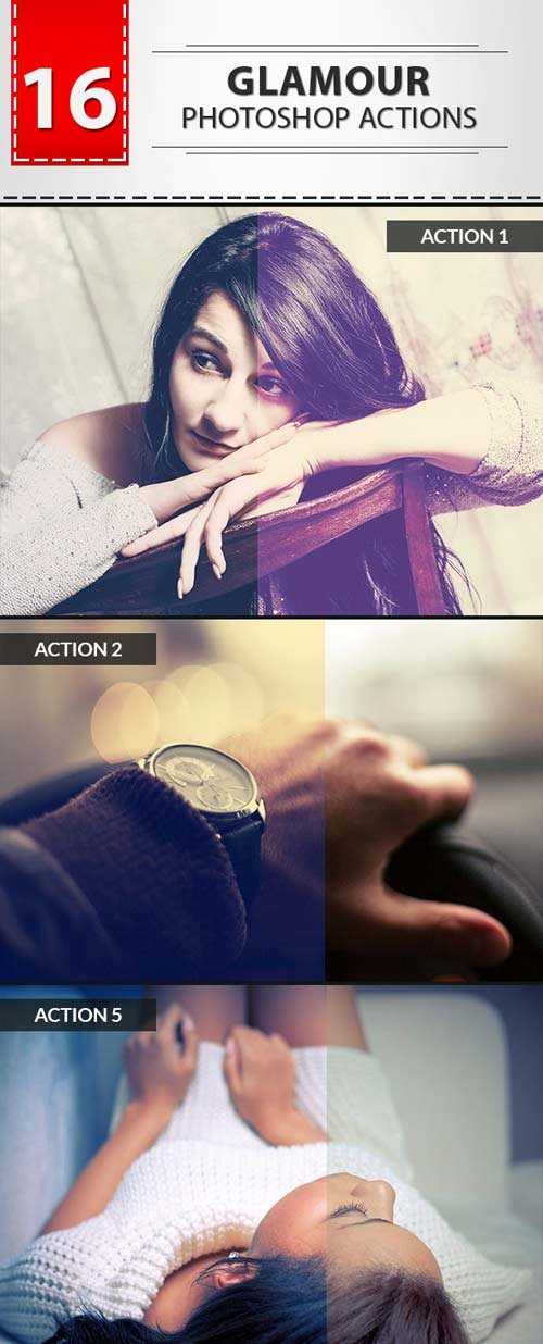 GraphicRiver 16 Glamour Photoshop Actions