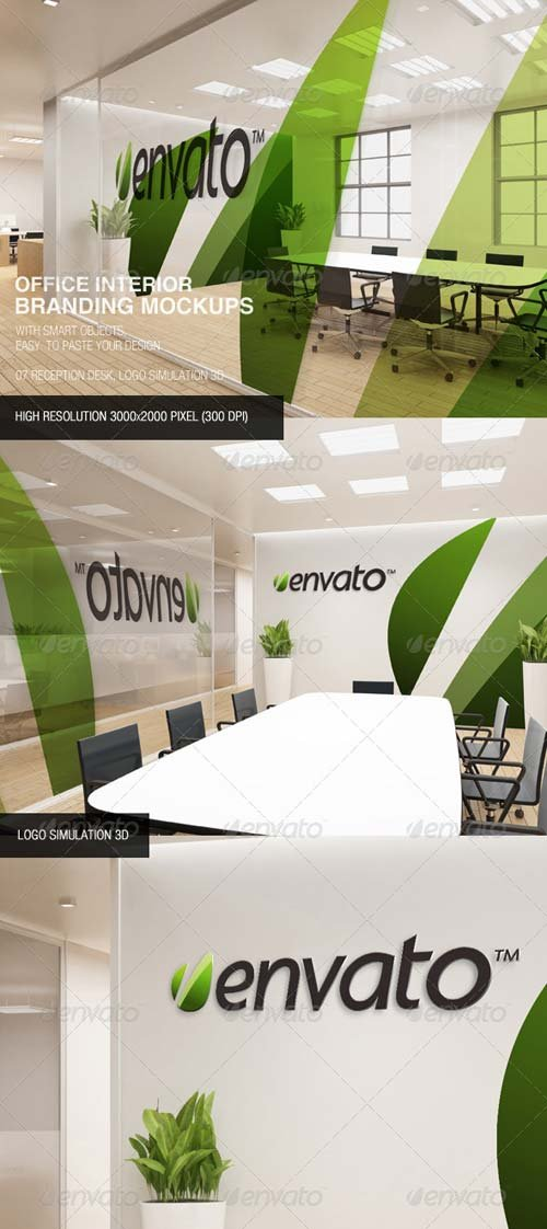 GraphicRiver Office Interior Branding Mockups
