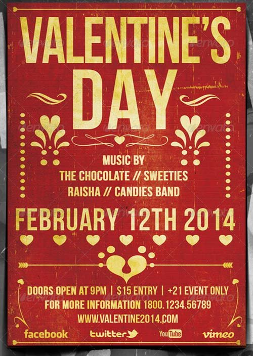GraphicRiver Valentine Typography Music Flyer