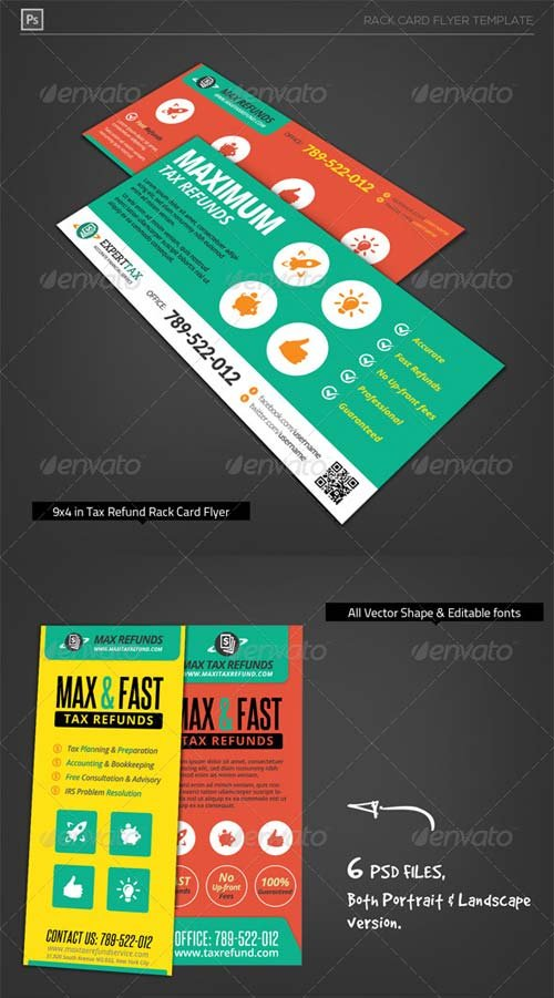 GraphicRiver Corporate Tax Refund Financial Rack Card Flyer