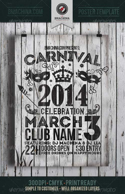GraphicRiver Carnival Celebration Flyer Template