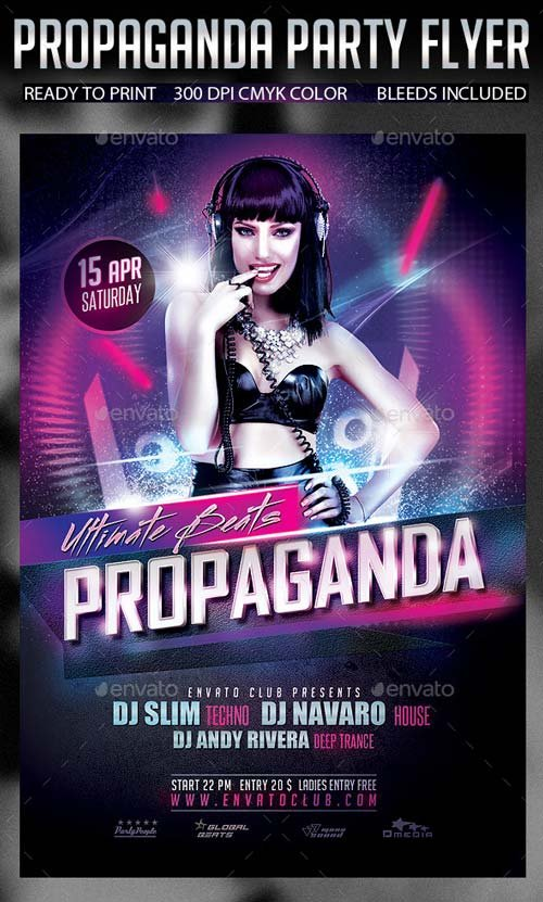 GraphicRiver Propaganda Party Flyer